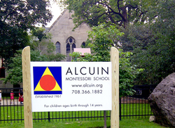 Alcuin campus front sign